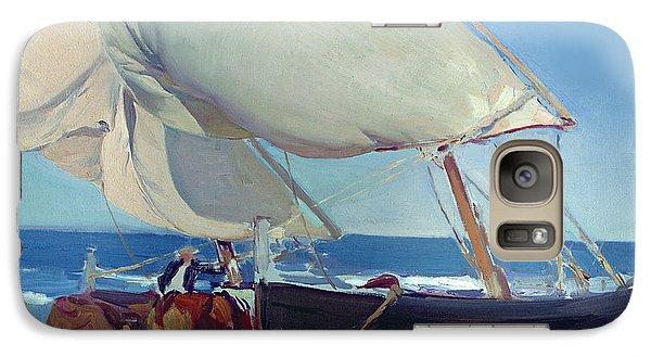 Boat Galaxy S7 Case - Sailing Boats by Joaquin Sorolla y Bastida