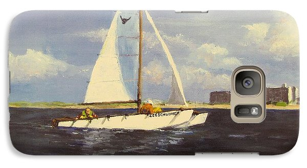 Galaxy Case featuring the painting Sailing In The Netherlands by Jack Skinner