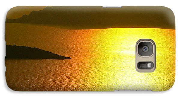 Galaxy Case featuring the photograph Sailing On Gold 1 by Ana Maria Edulescu
