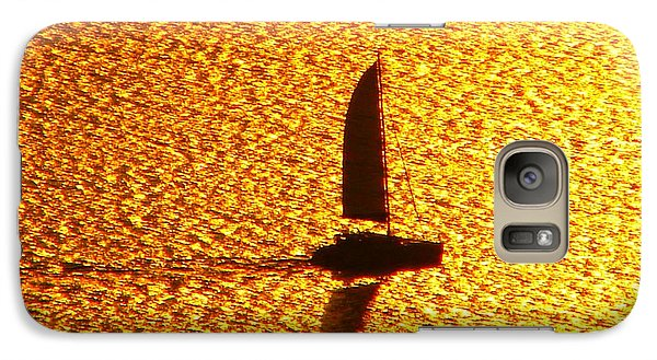 Galaxy Case featuring the photograph Sailing On Gold by Ana Maria Edulescu