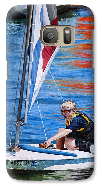 Galaxy Case featuring the painting Sailing On Lake Thunderbird by Joshua Martin