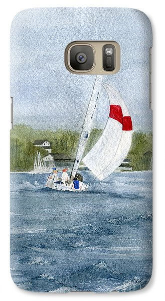 Galaxy Case featuring the painting Sailing On Niagara River by Melly Terpening