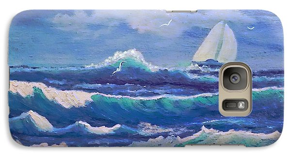 Galaxy Case featuring the painting Sailing The Caribbean by Holly Martinson