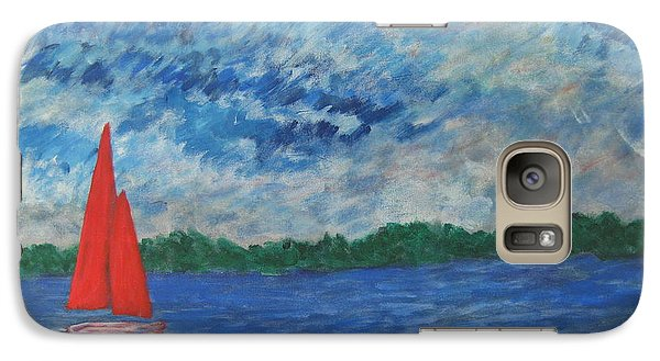Galaxy Case featuring the painting Sailing The Wind by John Scates