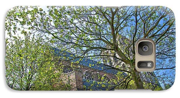 Galaxy Case featuring the photograph Saint Catharine's Church In Brielle by Frans Blok