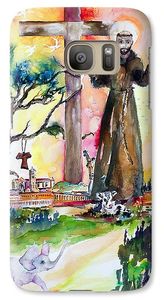 Galaxy Case featuring the painting Saint Francis Of Assisi Italy  by Ginette Callaway