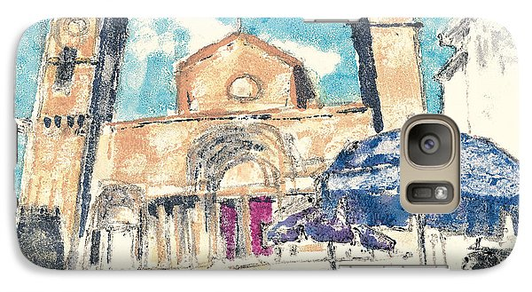 Galaxy Case featuring the painting Saint Gilles Abbey by Martin Stankewitz