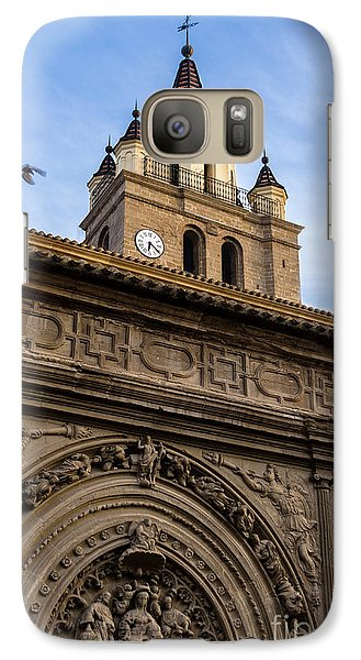 Galaxy Case featuring the photograph Saint Hieronymus Facade Of Calahorra Cathedral by RicardMN Photography