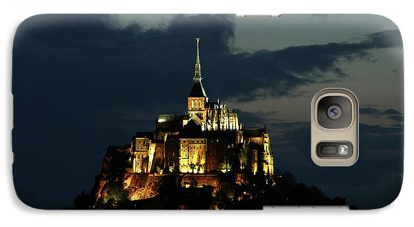 Galaxy Case featuring the photograph Saint Michel Mount After The Sunset, France by Yoel Koskas