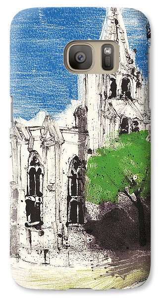 Galaxy Case featuring the painting Saint Pierre Avignon Provence by Martin Stankewitz
