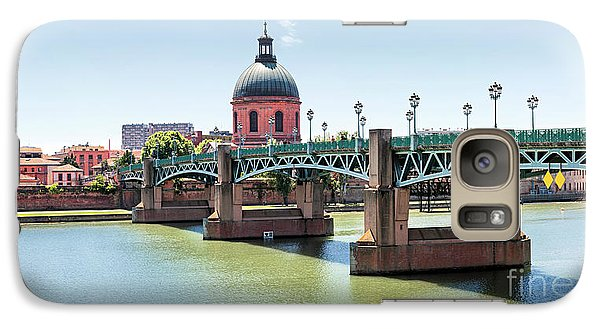 Galaxy Case featuring the photograph Saint-pierre Bridge In Toulouse by Elena Elisseeva
