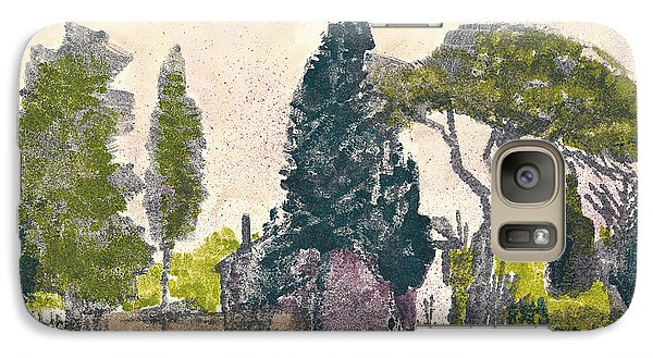 Galaxy Case featuring the painting Saint Remy De Provence Landscape by Martin Stankewitz