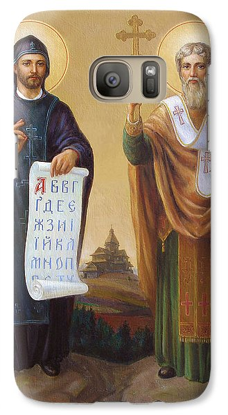 Galaxy Case featuring the painting Saints Cyril And Methodius - Missionaries To The Slavs by Svitozar Nenyuk