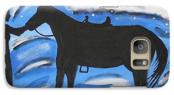 Galaxy Case featuring the painting Sally And Sunny by Jeffrey Koss