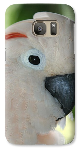 Salmon Crested Moluccan Cockatoo Galaxy Case by Sharon Mau