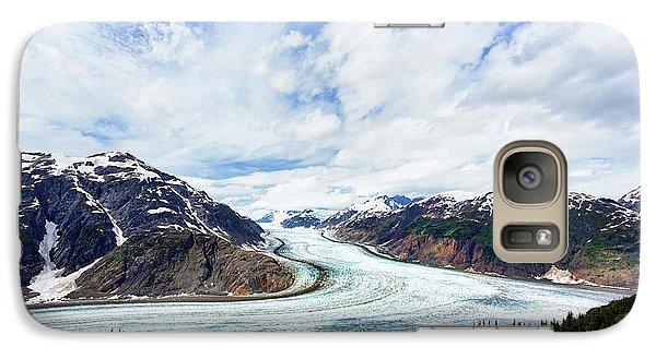 Salmon Glacier Galaxy Case by Heidi Brand