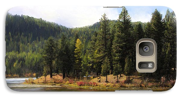 Galaxy Case featuring the painting Salmon Lake Montana by Susan Kinney