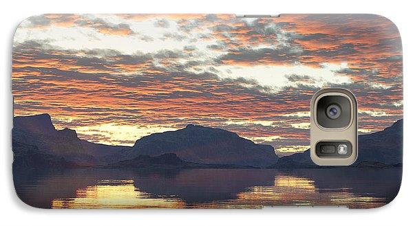 Galaxy Case featuring the digital art Salmon Lake Sunset by Mark Greenberg