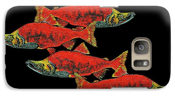 Galaxy Case featuring the painting Salmon Season by Debbie Chamberlin