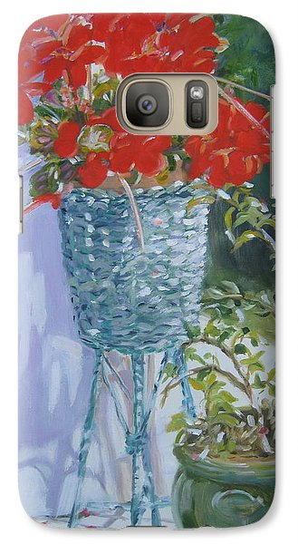 Galaxy Case featuring the painting Salt Island Hideaway by Julie Todd-Cundiff