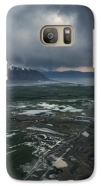 Galaxy Case featuring the photograph Salt Lake Drama by Ryan Manuel