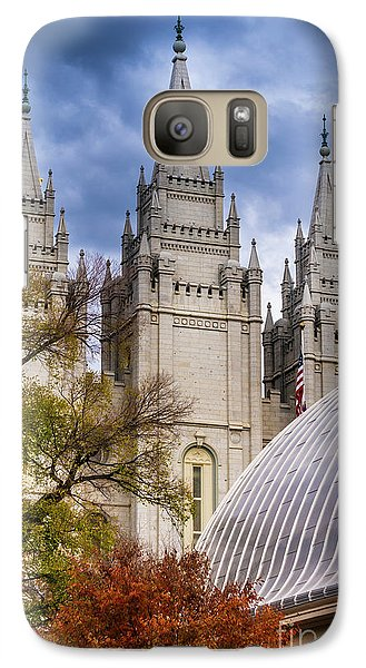 Galaxy Case featuring the photograph Salt Lake Lds Temple And Tabernacle - Utah by Gary Whitton