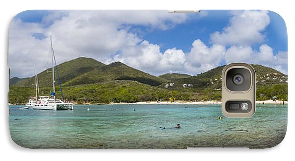 Galaxy Case featuring the photograph Salt Pond Bay Panoramic by Adam Romanowicz