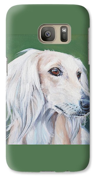 Galaxy Case featuring the painting Saluki Sighthound by Lee Ann Shepard