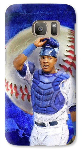 Galaxy Case featuring the mixed media Salvador Perez-kc Royals by Colleen Taylor