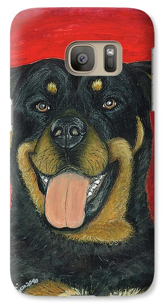 Galaxy Case featuring the painting Sam The Rottewieler by Ania M Milo