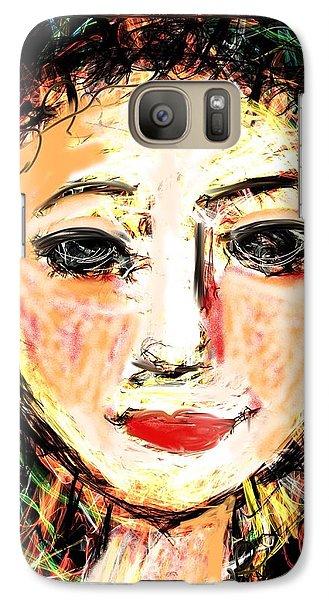 Galaxy Case featuring the digital art Samantha by Elaine Lanoue