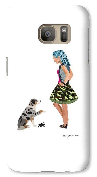 Galaxy Case featuring the digital art Samantha by Nancy Levan