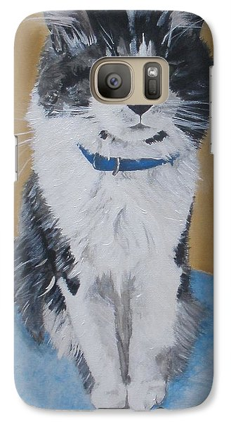 Galaxy Case featuring the painting Sammy by Betty-Anne McDonald
