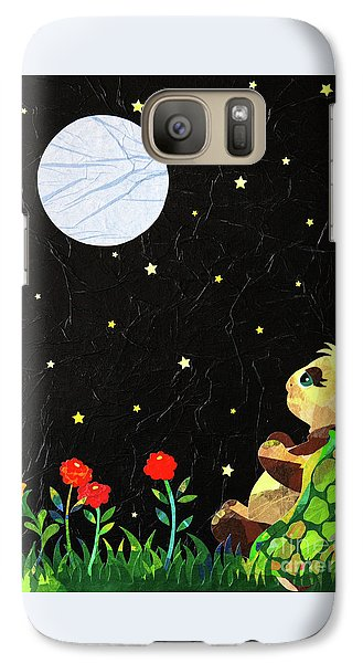 Galaxy Case featuring the mixed media Sammy's Solitude by Diane Miller