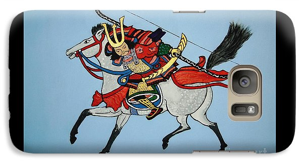 Galaxy Case featuring the painting Samurai Rider by Stephanie Moore
