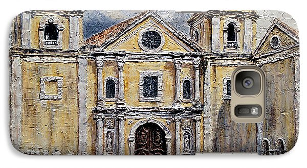 Galaxy Case featuring the painting San Agustin Church 1800s by Joey Agbayani