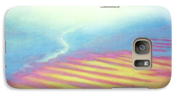 Galaxy Case featuring the painting San Blas Sunrise Ripples by Angela Treat Lyon