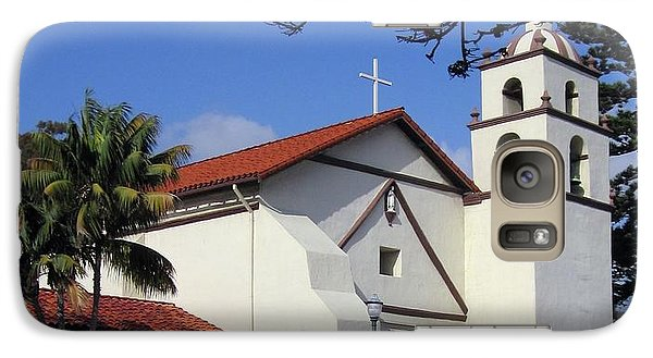 Galaxy Case featuring the photograph San Buenaventura Mission by Mary Ellen Frazee
