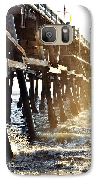 Galaxy Case featuring the photograph San Clemente Pier Magic Hour by Kyle Hanson