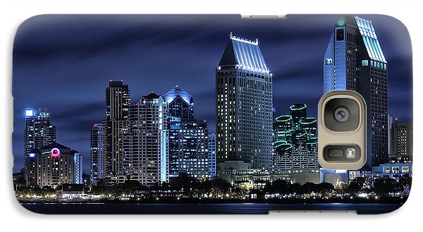 City Scenes Galaxy S7 Case - San Diego Skyline At Night by Larry Marshall