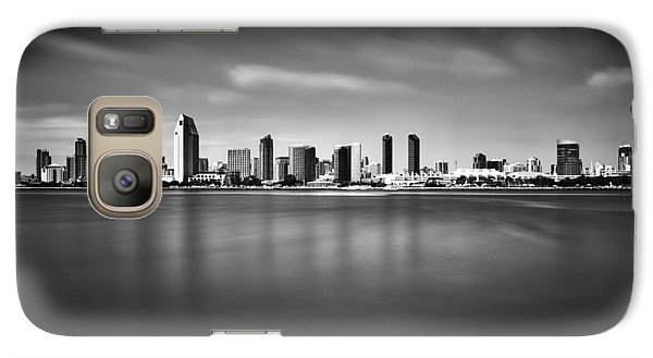 San Diego Skyline - Black And White Galaxy S7 Case