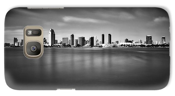 Galaxy Case featuring the photograph San Diego Skyline - Black And White by Photography  By Sai