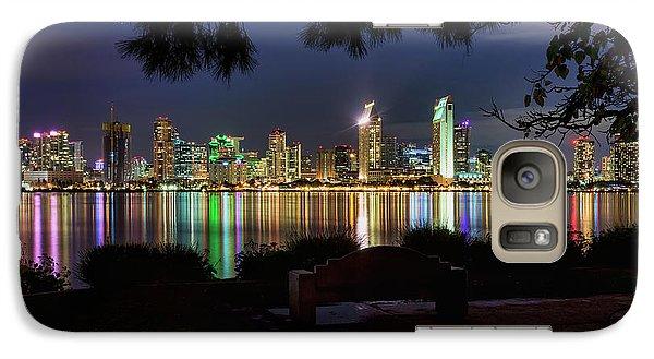 Galaxy Case featuring the photograph San Diego Skyline by Eddie Yerkish