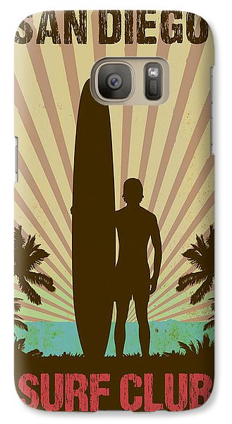 Galaxy Case featuring the digital art San Diego Surf Club by Greg Sharpe