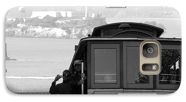 Galaxy Case featuring the photograph San Francisco Cable Car With Alcatraz by Shane Kelly