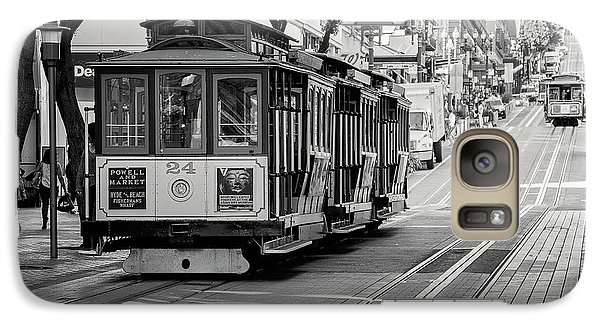 Galaxy Case featuring the photograph San Francisco Cable Cars by Eddie Yerkish