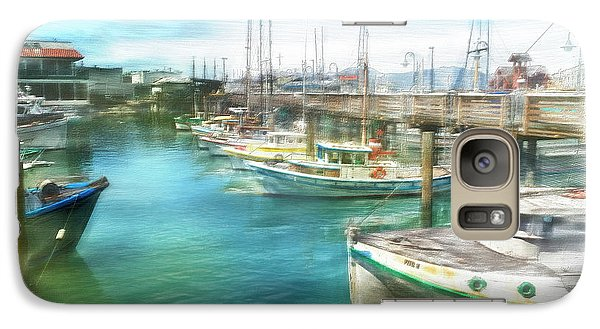 Galaxy Case featuring the digital art San Francisco Fishing Boats by Michael Cleere