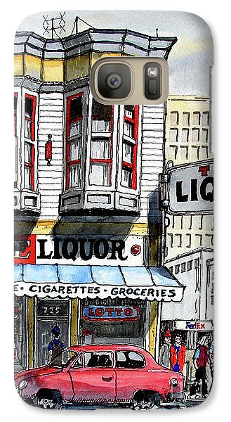 Galaxy Case featuring the painting San Francisco Street Corner by Terry Banderas