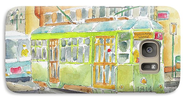 Galaxy Case featuring the painting San Francisco Streetcar by Pat Katz