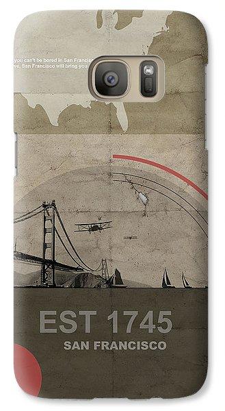 San Fransisco Galaxy Case by Naxart Studio